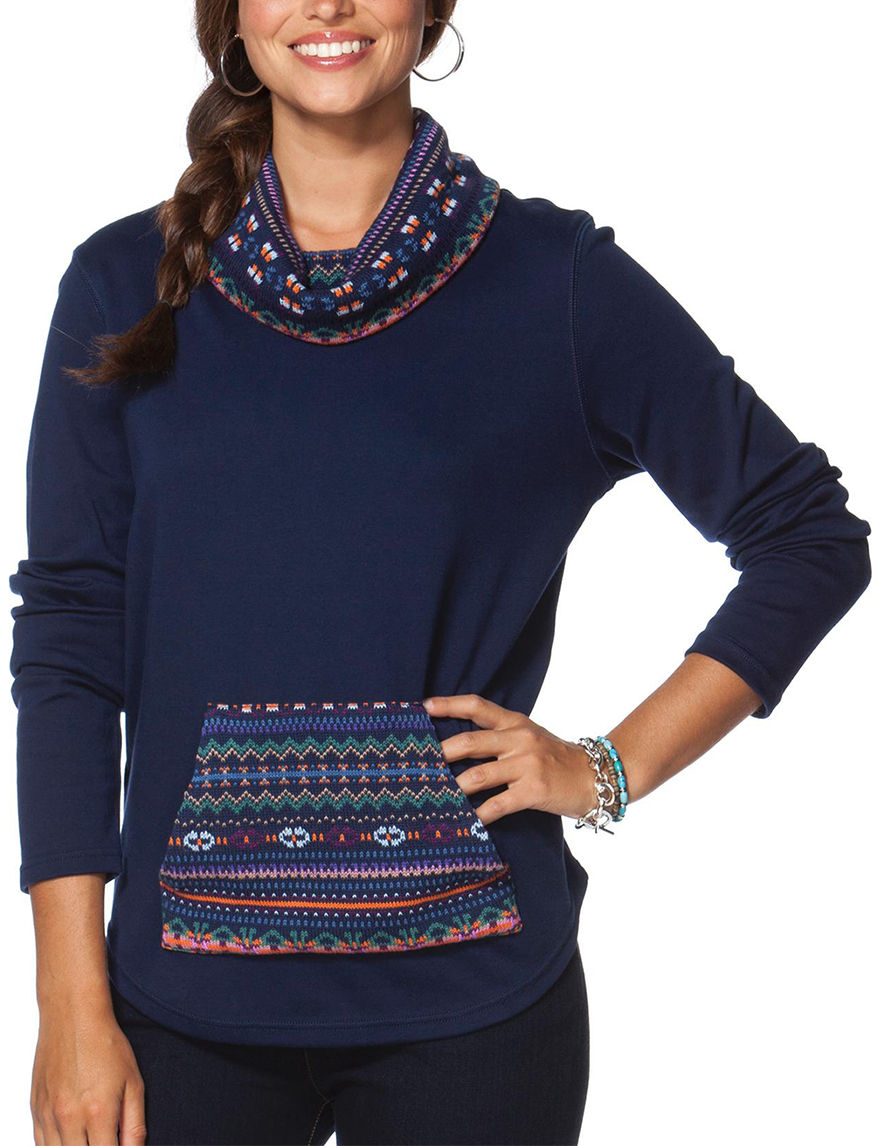 Chaps Blue Pull-overs Sweaters