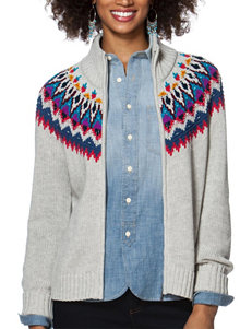 Chaps Multicolor Fair Isle Print Knit Sweater