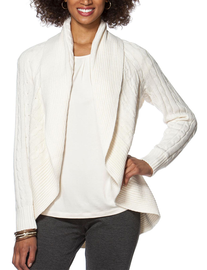 Chaps White Cardigans Sweaters