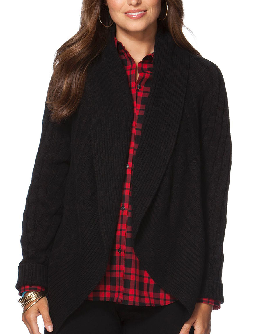 Chaps Black Cardigans Sweaters