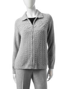Alfred Dunner Knit Cardigan
