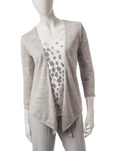 Hearts of Palm Grey Cardigans Sweaters