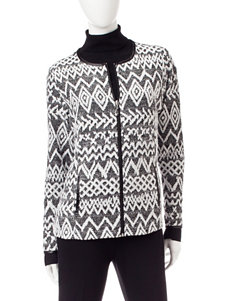 Rebecca Malone Black / White Lightweight Jackets & Blazers