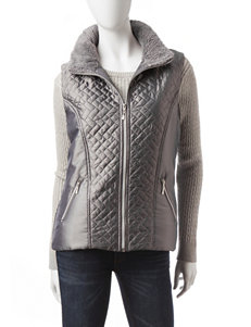 Hannah Faux Sherpa Trim Quilted Vest