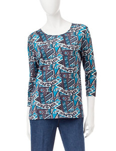 Rebecca Malone Abstract Print Top