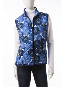Hannah Sunflower Print Quilted Vest