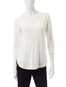 Ruby Road Embellished Trim Top