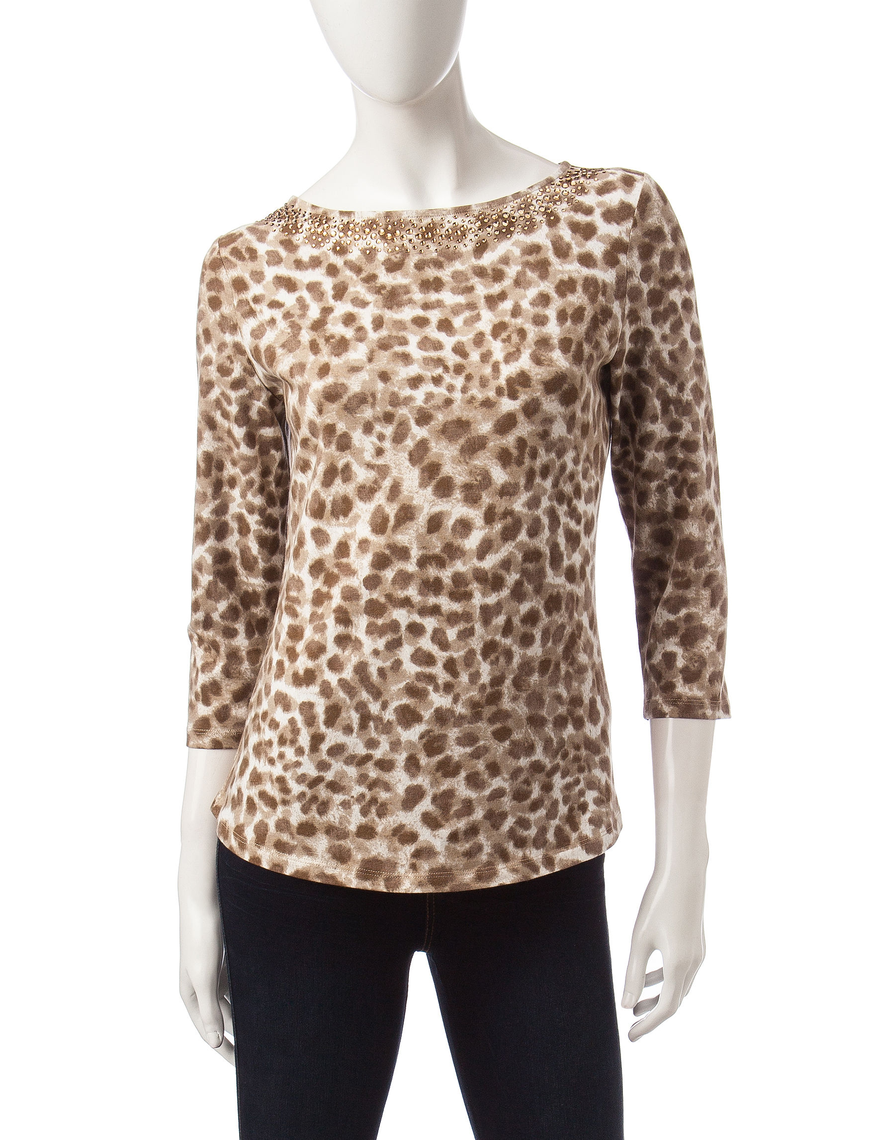 Ruby Road Beige Shirts & Blouses