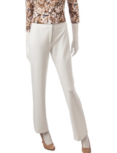 Ruby Road White Stretch Ponte Pants