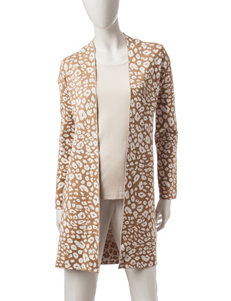 Ruby Road Animal Print Sweater Duster