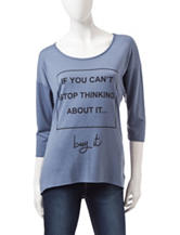 Hannah Blue If You Can't Stop Thinking About It Buy It Top
