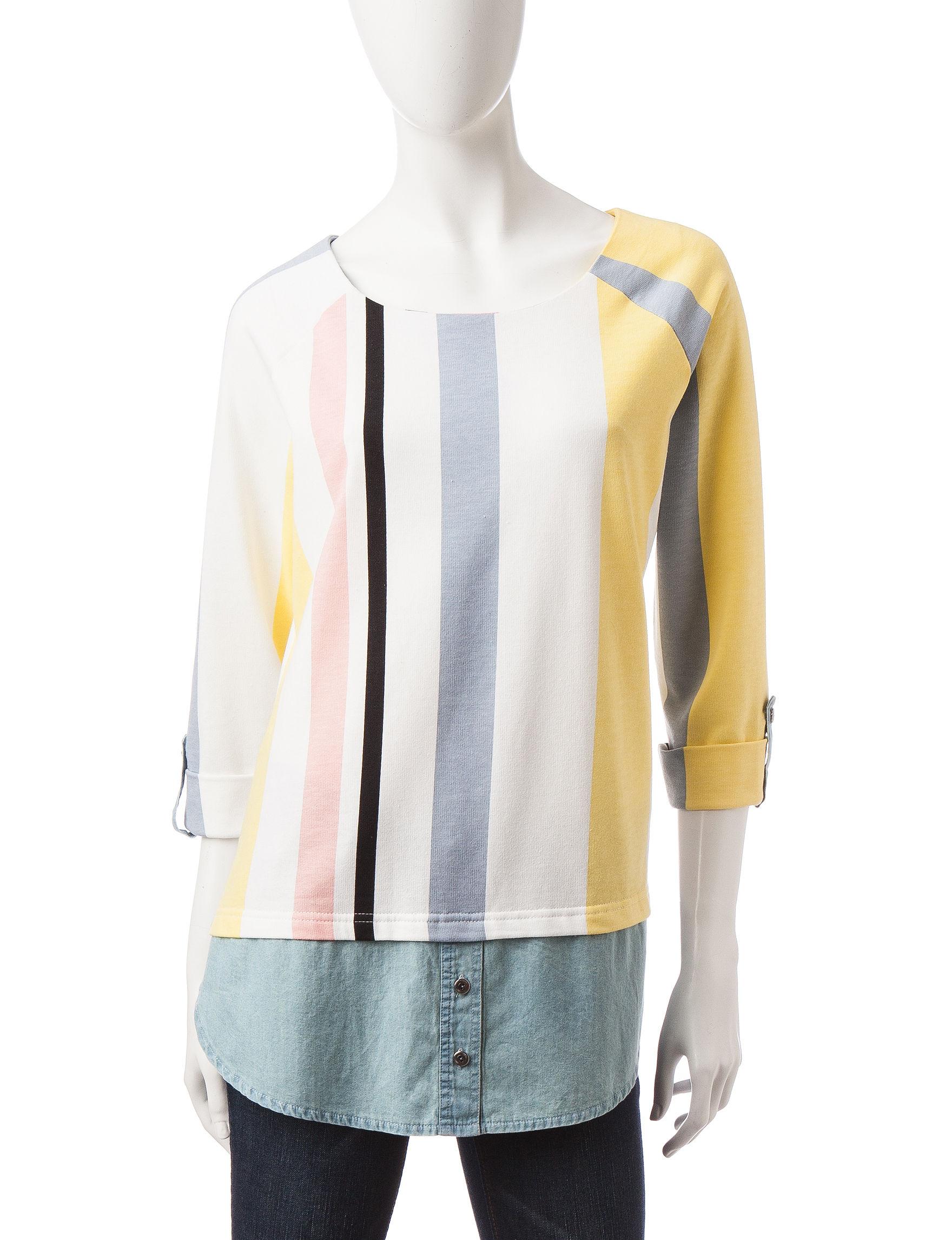 Hannah Black Multi Shirts & Blouses