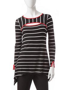 Hannah Black / Red / White Shirts & Blouses