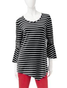 Hannah Black /  White Shirts & Blouses