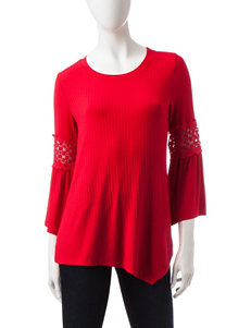 Hannah Ribbed Knit Sharkbite Hem Top