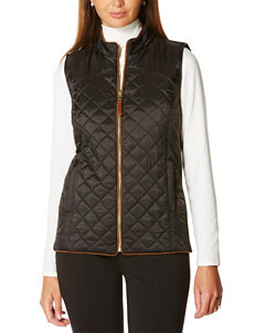 Rafaella Solid Color Puffer Vest