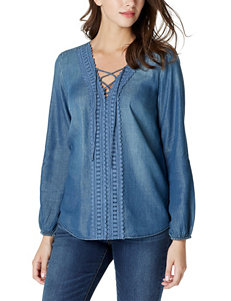 Vintage America Blues Blue Shirts & Blouses