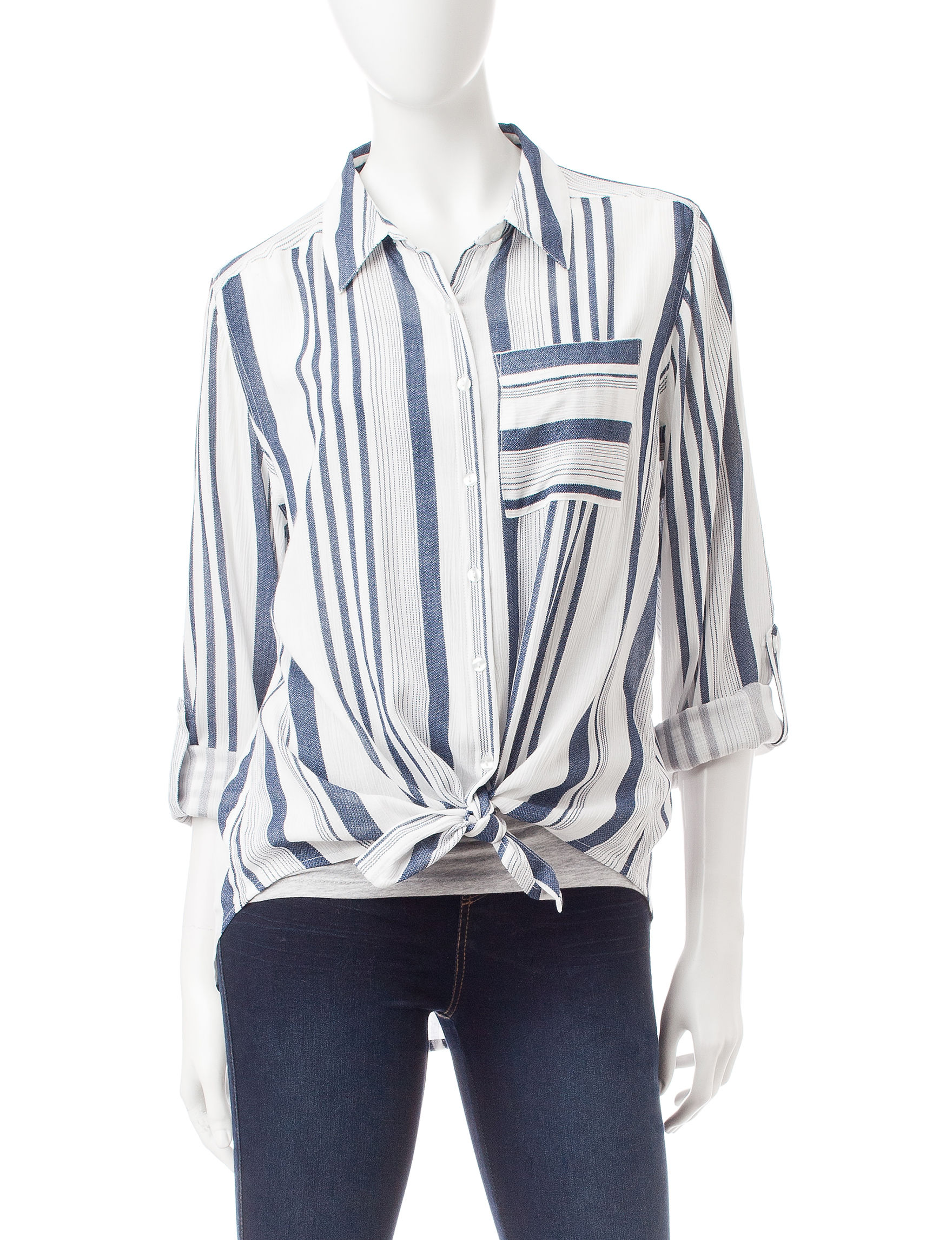 Hannah Blue / White Shirts & Blouses