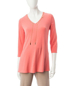 Notations Orange Capris & Crops Shirts & Blouses