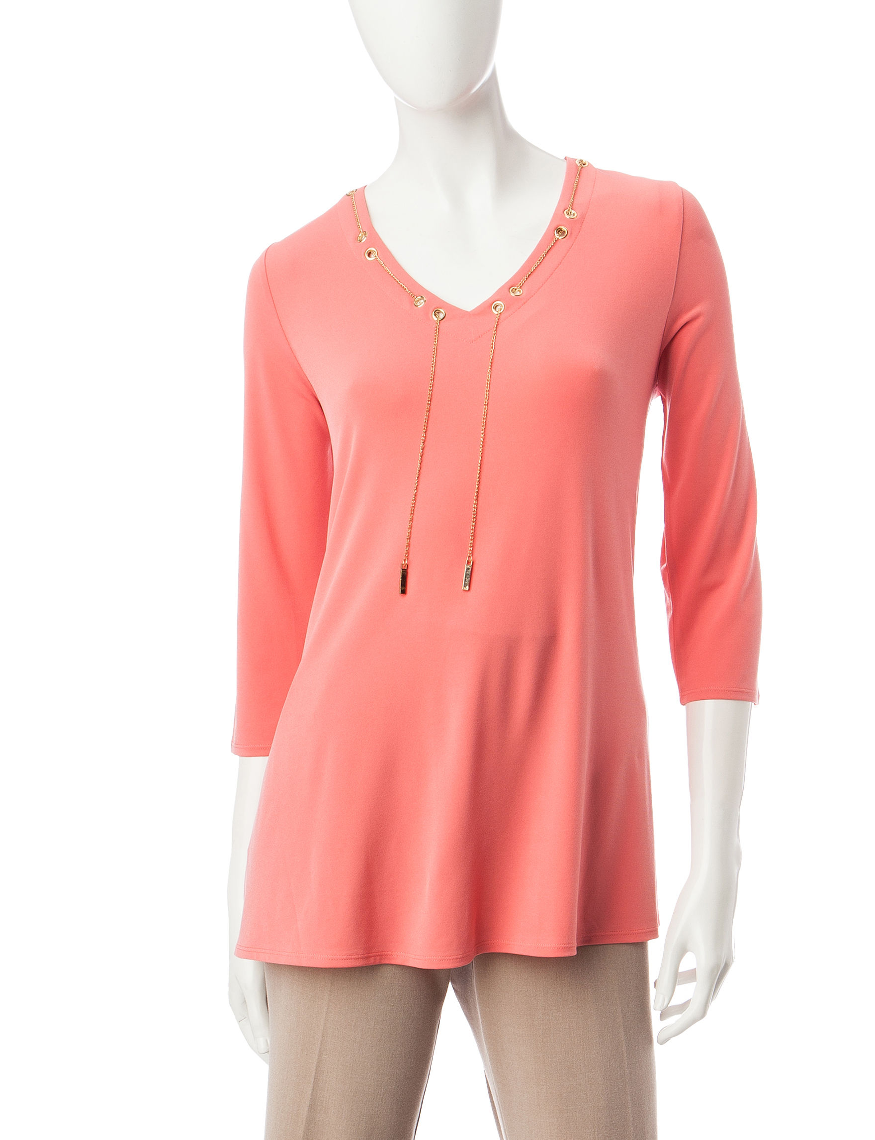 Notations Orange Shirts & Blouses