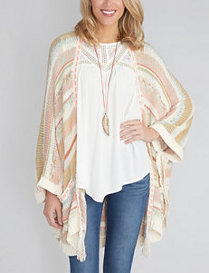Democracy Multicolor Striped Knit Poncho