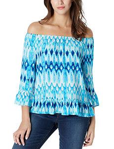Vintage America Blues Blue / Multi Shirts & Blouses