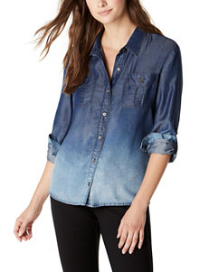 Nine West Jeans Michelle Ombre Woven Top
