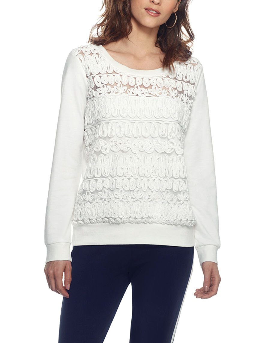 Skyes The Limit White Pull-overs