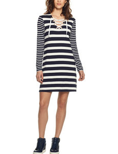 Skye's The Limit Striped Print Lace-Up Dress