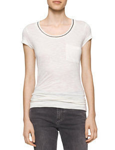 Calvin Klein Jeans Dark Beige Shirts & Blouses