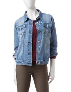 Hannah Dark Blue Denim Jackets