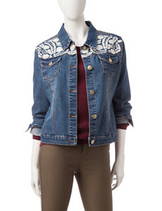 Hannah Dark Blue Denim Jackets