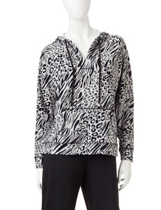 Cathy Daniels Animal Print Pull-Over Top