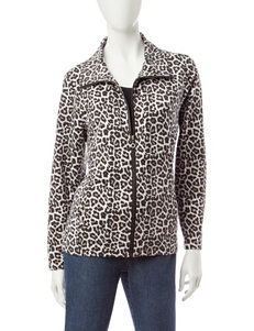 Cathy Daniels Animal Print Athleisure Jacket