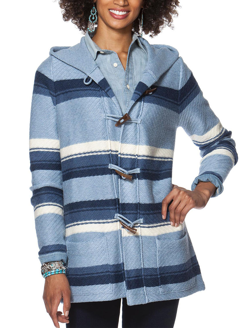 Chaps Blue Multi Pull-overs