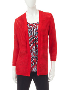 Alfred Dunner Red Pull-overs Sweaters