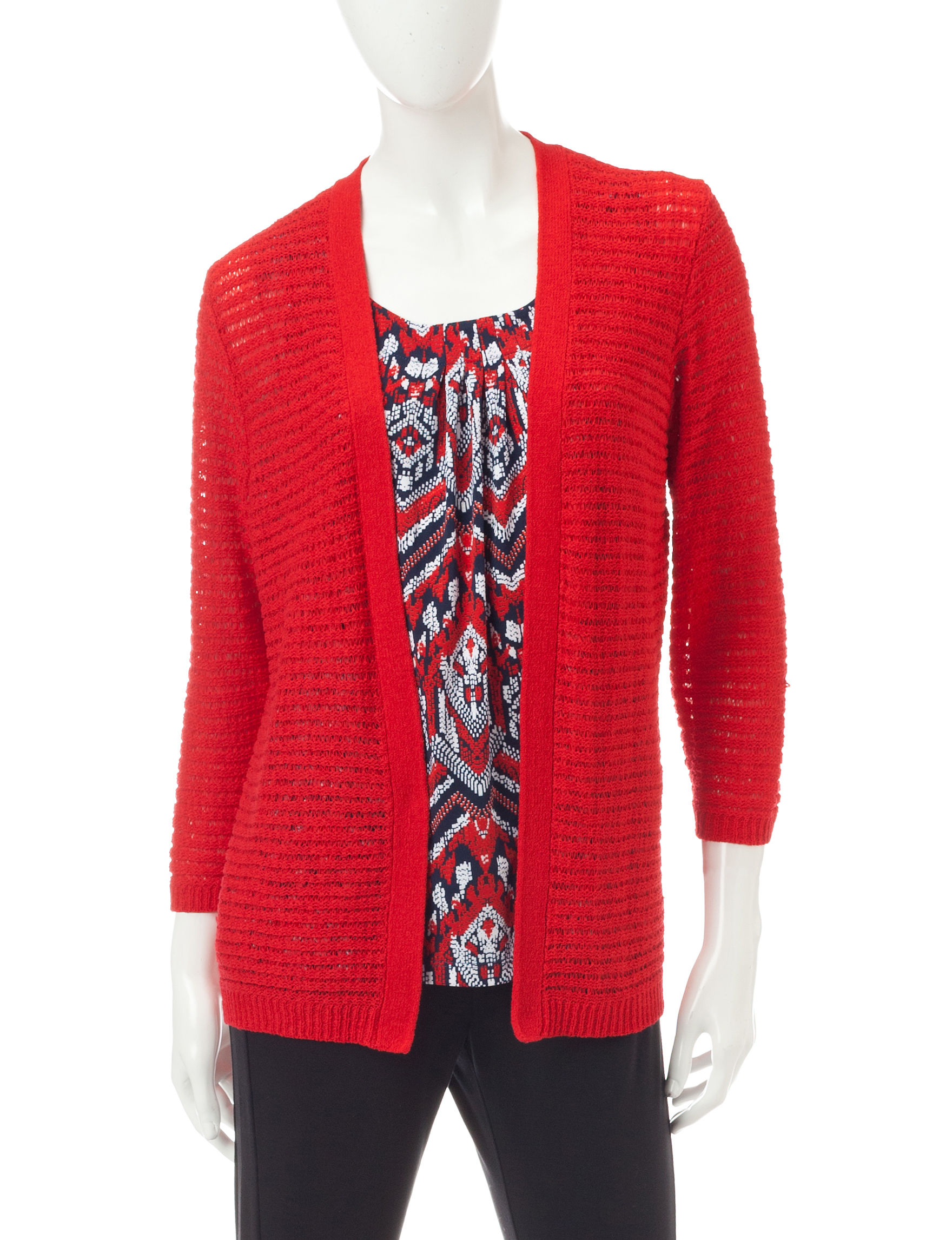 Alfred Dunner Red Cardigans