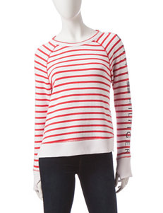 Tommy Hilfiger Striped Print Cropped Sweatshirt