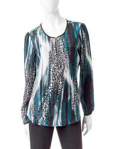 Zac & Rachel Teal Shirts & Blouses