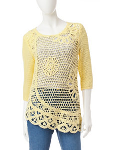 Hearts of Palm Yellow Pull-overs Sweaters