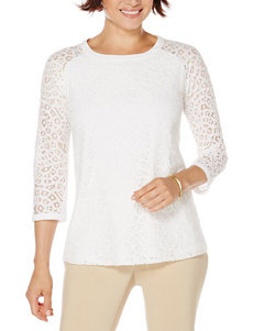 Rafaella White Lace Accent Top