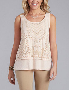 Democracy Embroidered Layered-Look Tank