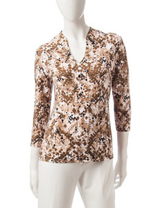 Ruby Road Print Shirts & Blouses