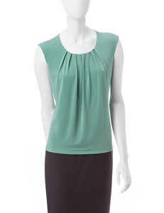 Kasper Pleated Neck Top