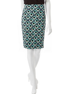 Kasper Diamond Print Pencil Skirt