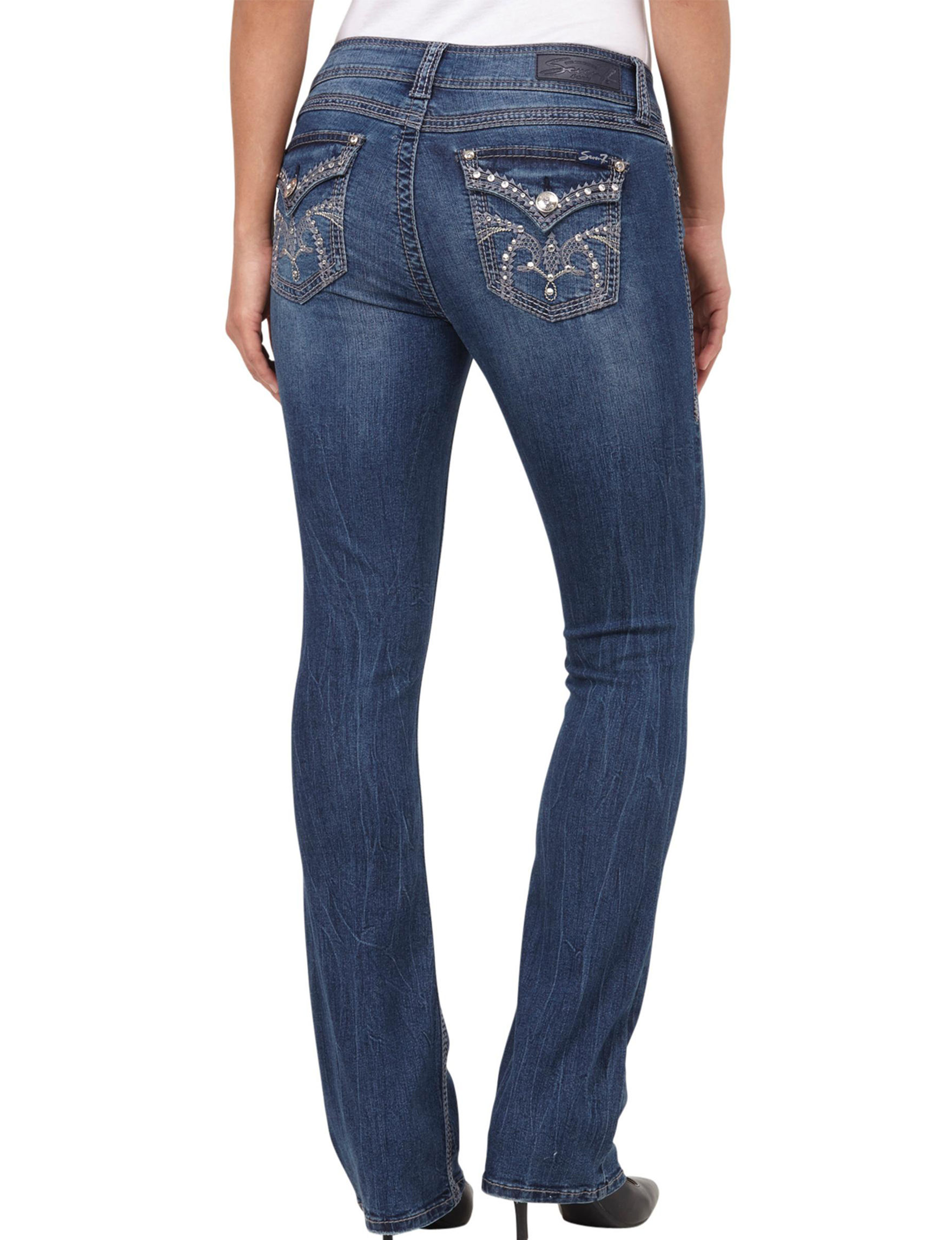 Seven 7 Embellished Slim Bootcut Jeans | Stage Stores