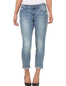 Seven 7 Floral Appliqué & Distressed Jeans