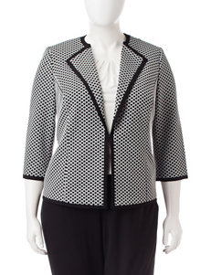 Kasper Plus-size Honeycomb Print Jacket