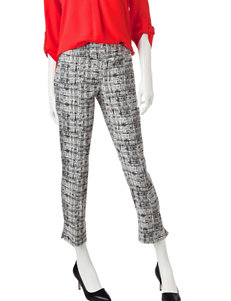 Valerie Stevens Hatch Print Ankle Length Pants