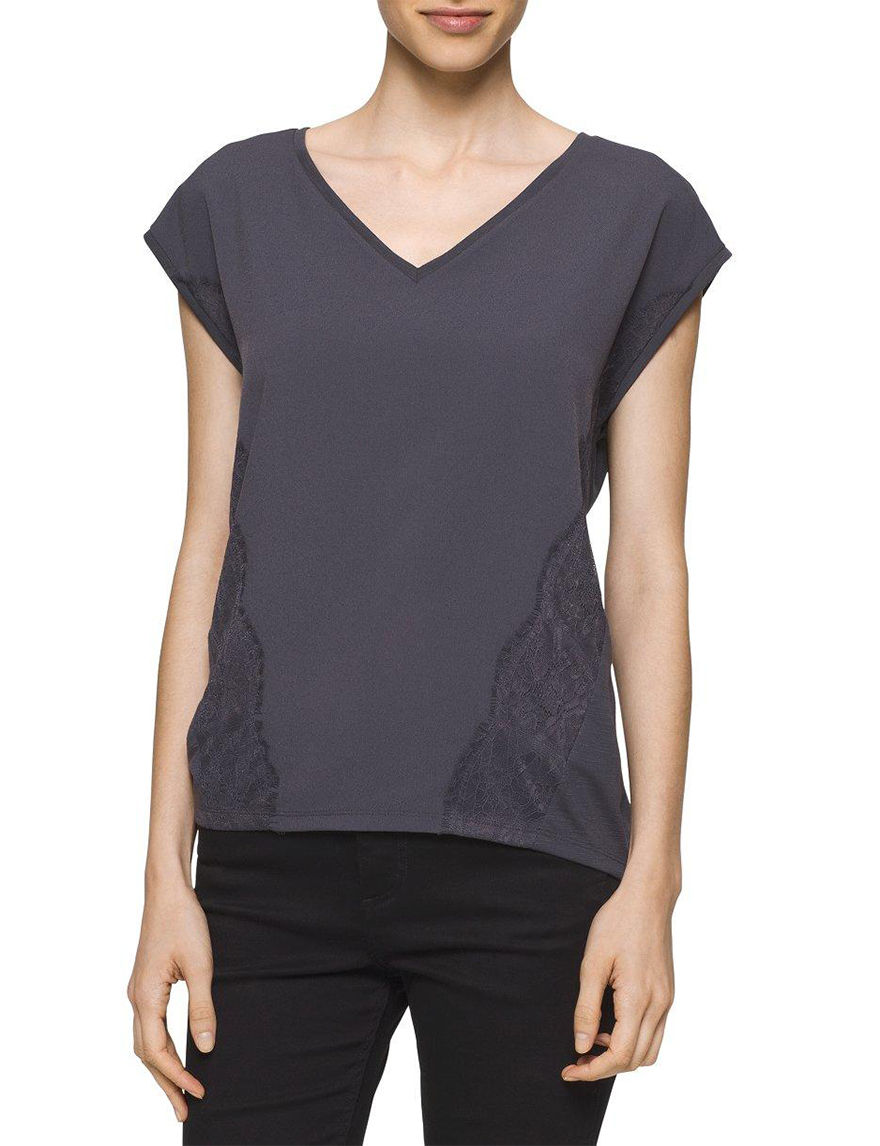 Calvin Klein Jeans Grey Shirts & Blouses